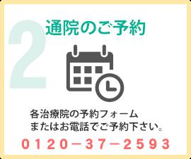 交通事故治療院検索 治療院が決まったら電話または予約フォームよりご予約ください。